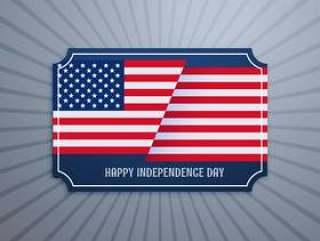 美国独立日徽章
