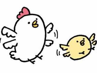 鸡的父母和孩子也应该能飞