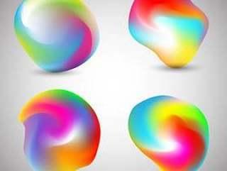 抽象的多彩形状