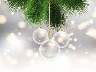 \在bokeh的圣诞节中看不中用的物品点燃背景