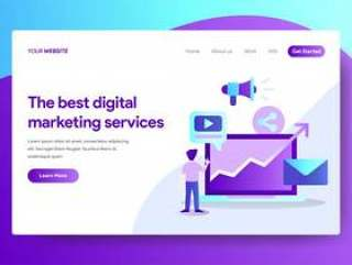 Landing page template of Digital Marketing Services Design