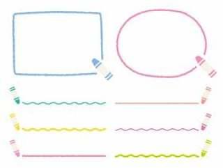 蜡笔风格线·框架