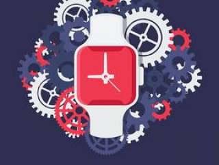 智能现代手表矢量