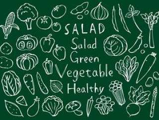 手绘的手绘蔬菜手写