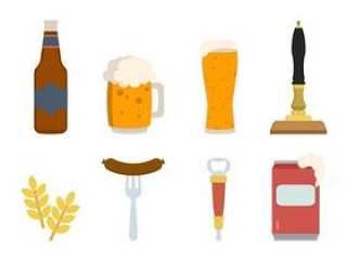 平坦的啤酒矢量