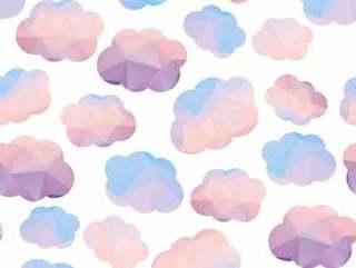 多边形的无缝模式与云。