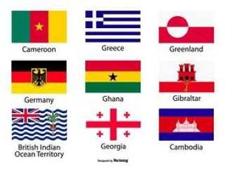 什锦的国家标志图标集合
