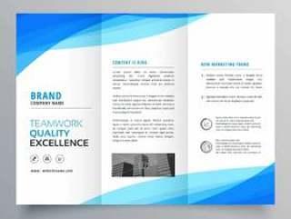 与波的蓝色灯笼企业小册子设计