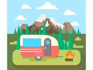 在大自然中露营