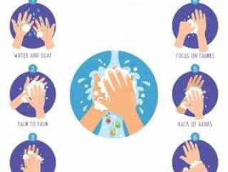 洗涤的手的传染媒介例证