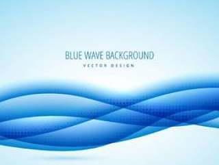 抽象的蓝色波浪设计背景
