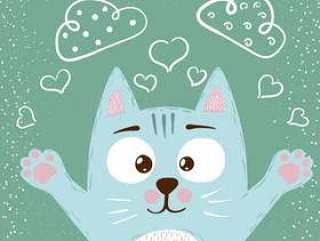 可爱的小宝贝猫字符