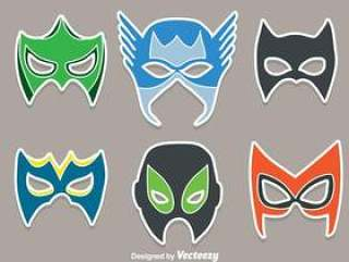 超级英雄面具矢量