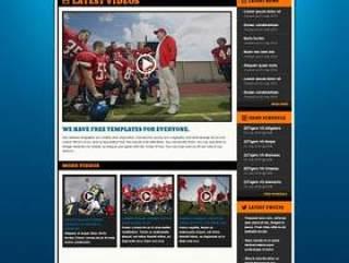 国外橄榄球运动网站PSD分层素材