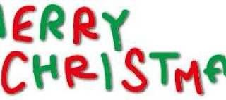 圣诞快乐手写的标志