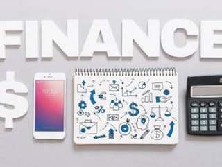 Smartphone mockup with finance concept