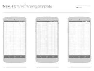 Nexus 5 线框模板