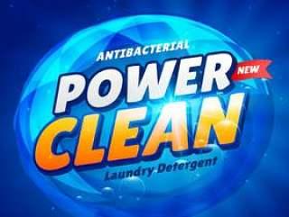 创意蓝色洗衣洗涤剂产品包装设计