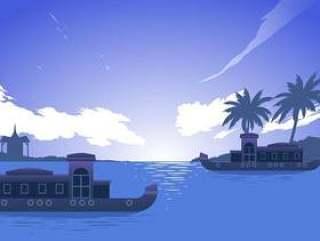 喀拉拉邦船 矢量