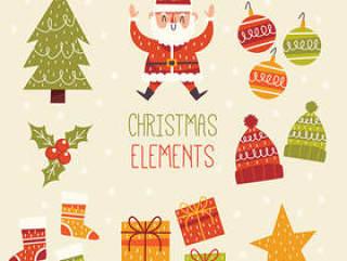 手绘圣诞元素