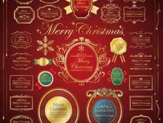 圣诞节/框架/框架/冬天材料集合