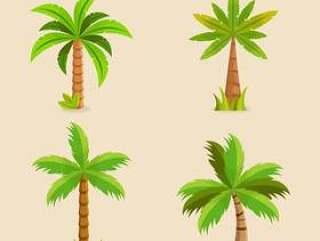 绿色棕榈树矢量