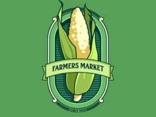 农民市场徽标矢量