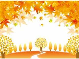 秋天的叶子季节性风景第2部分