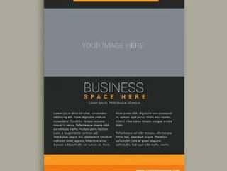业务宣传册模板在黄色和黑色的颜色