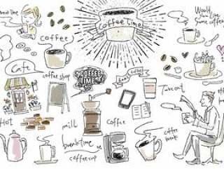 可能用于咖啡系统的插图