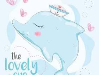 可爱的小海豚