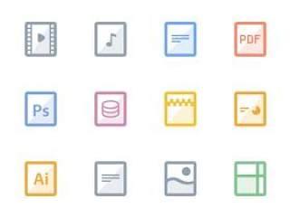 12枚文件格式图标