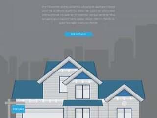 房地产上市例证。电子商务插图的首页列表。
