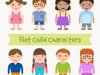 扁平化儿童设计