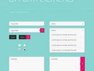 网页UI设计PSD分层素材