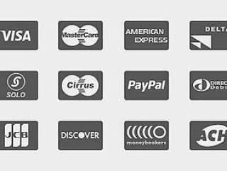 支付卡图形PSD分层图标