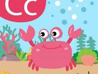 螃蟹图画线传染媒介设计