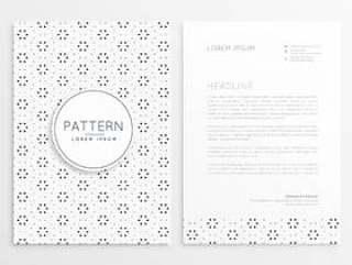 业务信笺设计与抽象图案