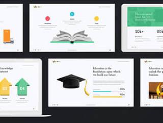 Powerpoint和Keynote的教育和业务演示模板。,EDULINE演示文稿
