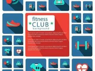健身俱乐部图标设计