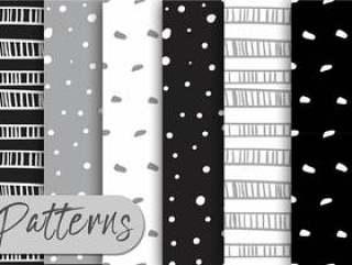 灰色和黑色的模式集