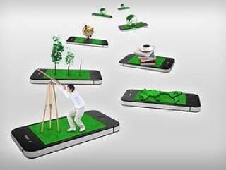 触摸屏手机广告设计PSD