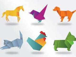 折纸动物矢量包