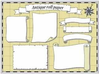 古董卷轴/羊皮纸般的风向集