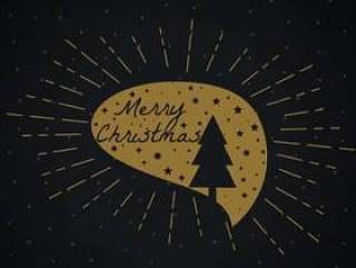 圣诞树和星聊天泡泡