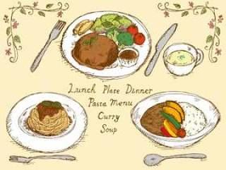 咖啡厅菜单午餐颜色