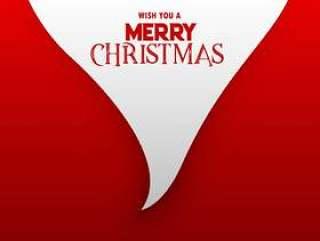 最小的圣诞节背景与圣诞老人胡子