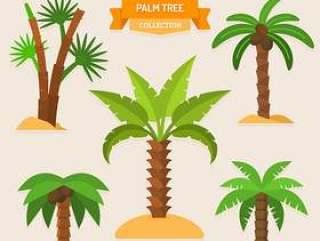 绿色棕榈树