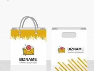 公司购物袋设计时尚外观