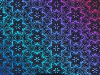 抽象的黑暗背景与花卉图案